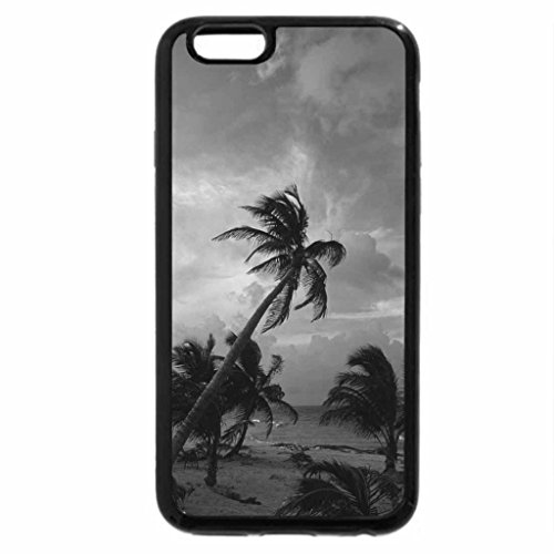 iPhone 6S Case, iPhone 6 Case (Black & White) - mexican beach