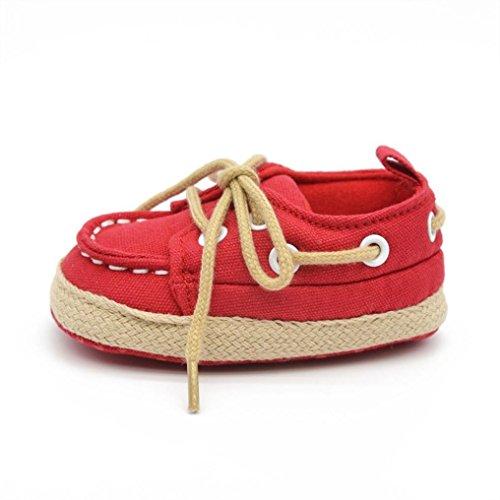 Tefamore Zapatos Bebe de Elegante para Primeros caminantes Rojo