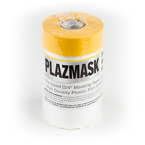 PlazMask Pre-Taped Masking Film, 2-Feet X 65-Feet