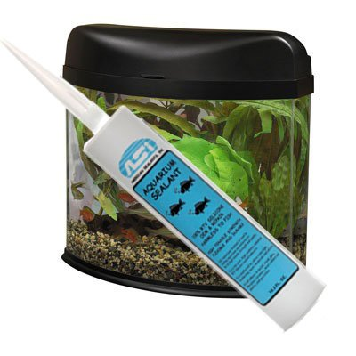 Clear Aquarium Silicone Sealant - 10.2 Fluid oz Cartridge by ASI