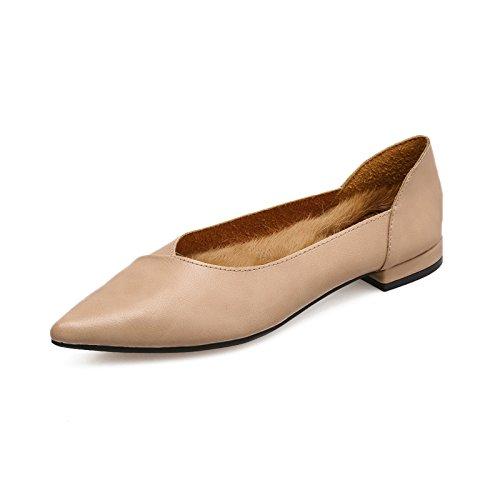 Xue Qiqi Court Schuhe Spitze Flache Schuhe Damenschuhe Wilde Schuhe Schuhe 37 Rosa
