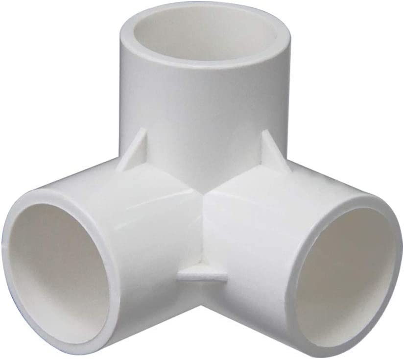 Build Heavy Duty Furniture Grade for 20//25//32//40//50mm Size Pipe,White 1pcs 20mm 3-Way PVC Fitting,Tee Pipe Fittings PVC Connectors