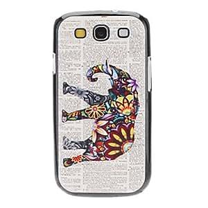 conseguir Elefante Caso duro del patrón magnífico para Samsung Galaxy S3 I9300