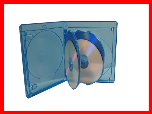 15mm Viva Elite Hold 4 Discs Blu-ray Replacement Case 5 Pack (4 Tray)