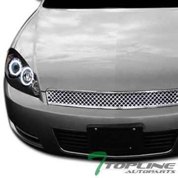 Chrome Mesh Style Front Hood Bumper Grill Grille Chevy Impala/Monte Carlo ()