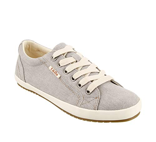 - Taos Footwear Women's Star Grey Wash Canvas Sneaker 9 M US