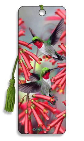 Artgame - Hummingbirds - 3D Bookmark -