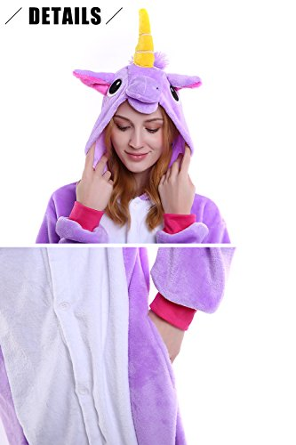 Cosplay Onesie Anime Natale Uomo Party Unisex Kigurumi Halloween Donna Attrezzatura Adulto Dolamen Sleepwear Costume Purpleunicorn Pigiama qIC8x0H0w