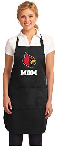Broad Bay University of Louisville Mom Aprons Louisville Cardinals Mom w/Pockets Grilling Gift Her