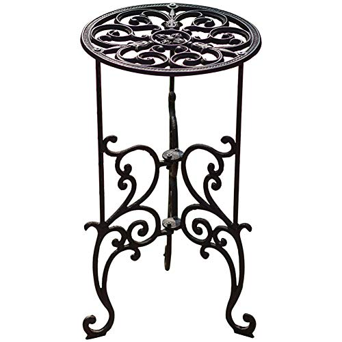 Sungmor Heavy Duty Cast Iron Potted Plant Stand,19.3-Inch 1 Tier Metal Planter Rack,Decorative Flower Pot Holder,Vintage & Rustic Style Indoor Outdoor Garden Pots Container Supports
