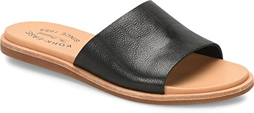 Kork-Ease Gila Black Full Grain Leather Women's Sandals -