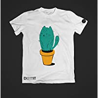 Playera estampada Mujer - Gato Cactus