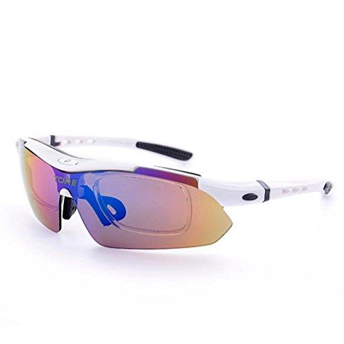 Dreamyth Polarized Cycling Glasses Eyewear Bike Goggles Fishing Sunglasses (White, - Sunglasses White Gascan