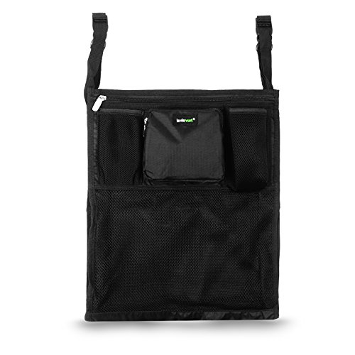 Lavievert Universal Stroller Organizer Diaper Bag Stroller Accessories Pack with Drink Holders and Zipped Pockets Can Be Used As an Attachment For Car, Shopping Cart or Bike While Travelling or Outings