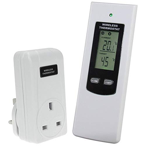 Professional Promotion Uk Plug Rf Wireless Remote Control Thermostat In Electric, Door Bell Voye - Hands Free Controller, Usb Port, Angel Lighting, Port Car Charger, Chime Door, Mini Spy (Best Wireless Thermostat Uk)