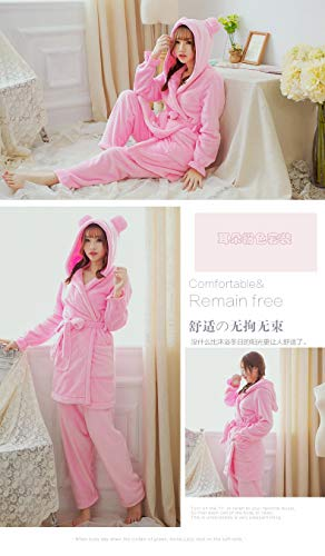 Two Autumn Coral L158 164cm 57kg 65kg And Suit Xl162 Pajamas Thick Bathrobe Fleece Winter Robe 47 Home piece 58 168cm Service Ladies Cute Pajamasx 5aXOqTwn