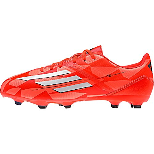 Adidas F10 Womens Firm Ground Cleats [SOLRED/CWHITE/GLITRA] (5) by adidas