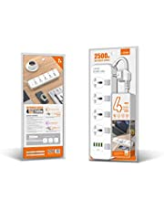 ليدنيو مشترك كهربائي 4 عين UK بمفاتيح منفصله لكل عين و أربع مخارج USB بقدرة 3.4 أمبير,17واط بجسم مضاد للحريق و كابل بطول 2 متر 2500 واط