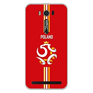 ColorKing Asus Zenfone 2 Laser ZE550KL Football Red Case shell cover - Fifa Poland 02