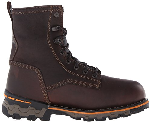 Mens Waterproof Boondock Pro Leather ins Tumbled Soft Brown Boot Toe 8 Timberland Work 1q4wf6H