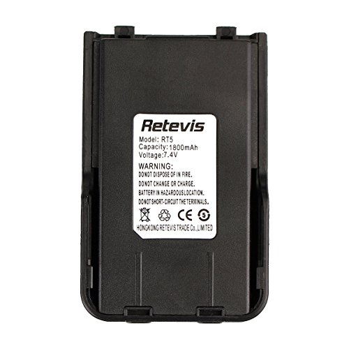 Retevis RT5 Two Way Radio Battery 1800mAH Replacement