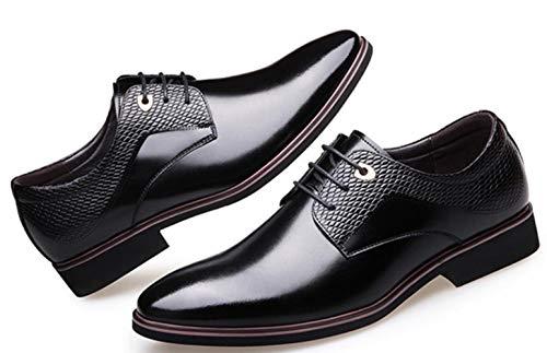 Schuhe Kleid Shiney England Business Hochzeit Spitzen New Herren Black Freizeitschuhe Leder Kleid HfAx6qf