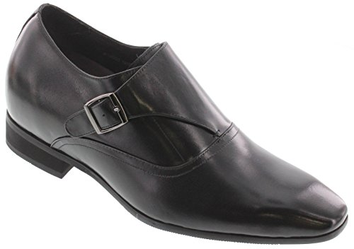 Toto X4022-2.8 inches Taller - height Increasing Elevator Shoes - Black Lightweight Dress Shoes lUDNP40
