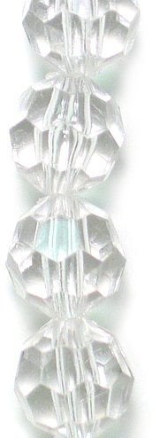 Expo BD53344 Acrylic Faceted Beads 8-Inch Strand, Clear