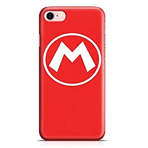 Loud Universe Super Mario Logo iPhone 8 Case Red Mario brothers iPhone 8 Cover with 3d Wrap around Edges
