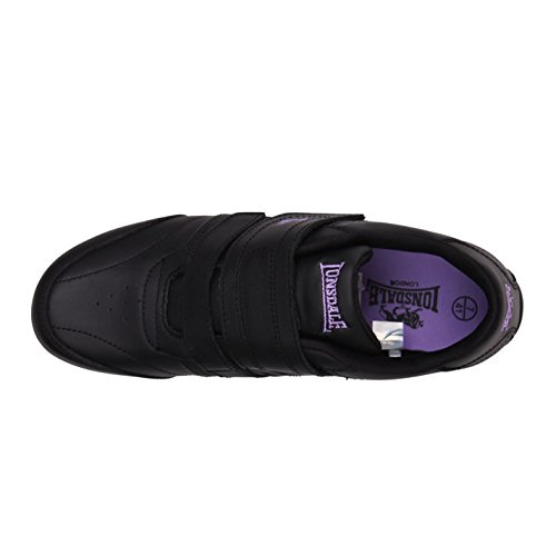 Lonsdale Womens Chelsea Ladies Trainers Full Lace Up Sport Fitness Gym Shoes Black/Purple UK 5.5 iGZyp4M2rx