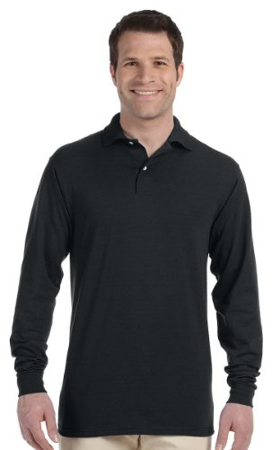 (Jerzees Mens 5.6 Oz. 50/50 Long-Sleeve Jersey Polo With)