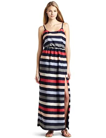 BCBGeneration Women's Striped High Slit Maxi Dress, Galaxy Multi, XX-Small