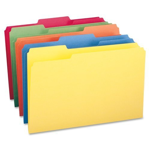 File Folder,1/3 AST 1-Ply Tab,Legal,100/BX,Blue, Sold as 1 Box by Smead