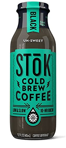 Stok Black Unsweetened Coffee 13.7 oz Bottles - Pack of 12