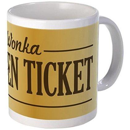 11 ounce Mug - Willy Wonka Golden Ticket Mugs - S White