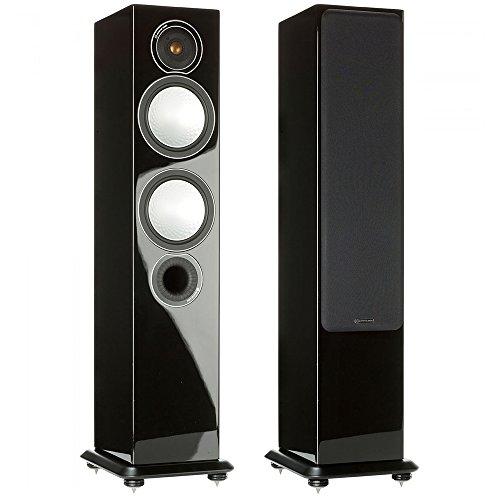 Monitor Audio Silver 6 - Par de caixas acústicas Torre 2,5-vias para Home Theater Preto Laqueado