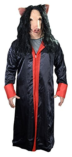 Trick or Treat Studios Men's Saw-Jigsaw Robe, Multi, One Size]()