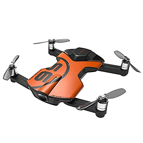 Wingsland S6 Pocket RC Quadcopter FPV Selfie Drone 4K HD Camera 3-Axis Gimbal Phone Control Foldable RTF Helicopter (Outdoor (V3 Watch Phone)