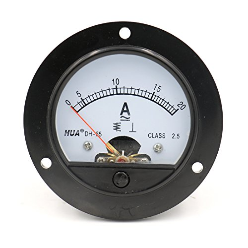 (Baomain DH-65 Round Shaped AC 0-20A Analog Panel Meter Ammeter)