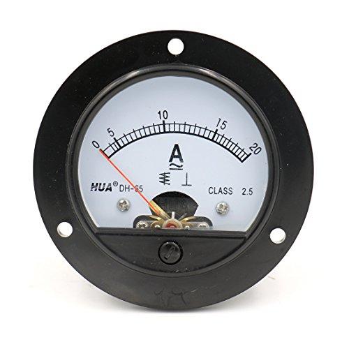 Baomain DH-65 Round Shaped AC 0-20A Analog Panel Meter Ammeter Gauge (Ammeter Analog Ac)