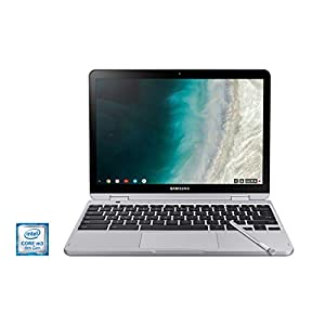 Samsung XE520QAB-K02US Chromebook Plus V2, 2-in-1, Intel Core m3, 4GB RAM, 64GB eMMC, 13MP Camera, Chrome OS, 12.2″, 16:10 Aspect Ratio, Light Titan