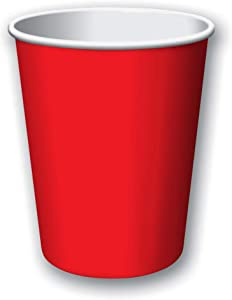 Creative Converting Products - Creative Converting - Hot/Cold Cups, Paper, 9 oz., Classic Red, 24 per Pack - Sold As 1 Pack - Versatile cup that allows you to serve hot or cold drinks. - Disposable. -