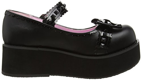 Pat Bvl Baskets Leather Noir Femme Pleaser Vegan blk Basses 04 pt Sprite qICwCEP