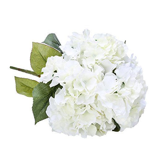 Houda Artificial Silk Hydrangea Bouquet Fake Flowers Arrangement Home Wedding Decor (Arrangement Bouquet)
