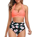 Women's Two-Piece Swimsuits Retro Halter...