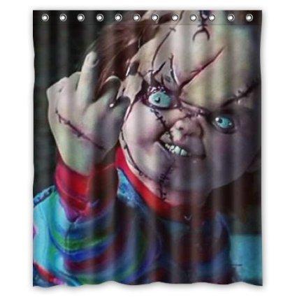 Child's Play Chucky Doll shower curtain 60x72 inch (Chucky Dolls)