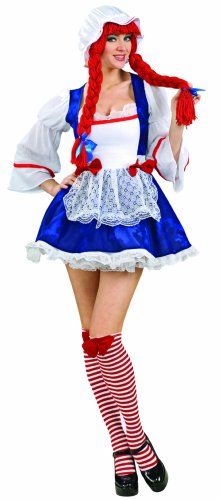 Secret Wishes  Rag Doll Costume, Blue, Medium (Halloween Rag Doll Costume)