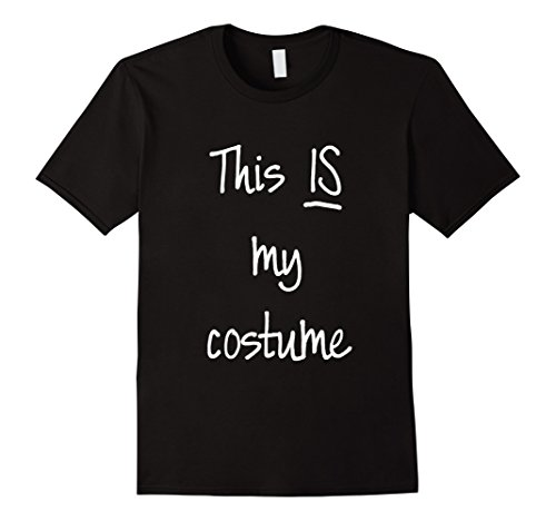 Mens This IS My Costume Last Minute Funny Halloween Shirt 2XL Black (Minute Man Costume)