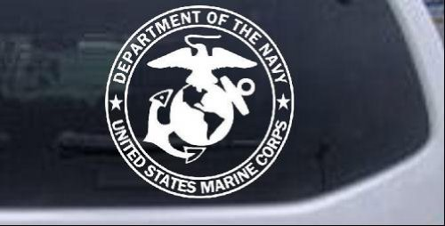 The Department Of The Navy Seal Military Car Window Wall Laptop Decal Sticker -- White 6in X 6in
