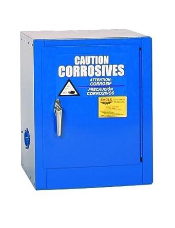 Delightful Eagle Acid/Corrosive Safety Cabinet, 1 Manual Door, Steel, Blue